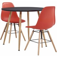 3 Piece Dining Set Plastic Red19589-Serial number