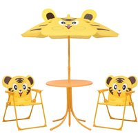 Youthup - 3 Piece Kids Garden Bistro Set with Parasol Yellow