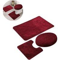 Zqyrlar - 3 piece non-slip bath mat and toilet rug set, Fast Dry Bathroom Kitchen Mats Soft, comfortable, water absorbent