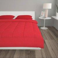 3 Piece Winter Duvet Set Fabric Burgundy 240x220/80x80 cm - Red