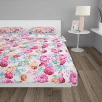3 Piece Winter Duvet Set Fabric Printed 200x220/80x80 cm - Multicolour