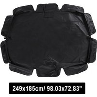 Mohoo - 3 Seater Size Outdoor Garden Patio Swing Sunshade Cover Canopy Top SunProof Cover black 249x185cm
