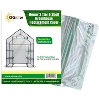 Replacement PVC Plastic Cover for 3 Tier 6 Shelf Walk In Greenhouse, Garden Grow House - 29