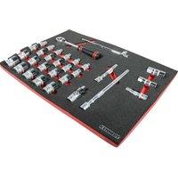 Kennedy 30 Piece Professional Metric Socket Set 1/2 in Tool Control Full Width