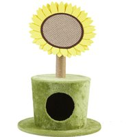 30 Sun Flower Cat Scratcher Tree Sisal Cat Cave Bed Interactive Activity Toy - BINGO PAW