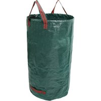 32 Gallons Garden Waste Bags Reusable Yard Waste Bags(H30,D18 inches)-Leaf Bag Trash Containers,model:Dark green