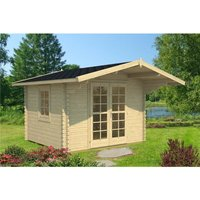 Clifton Log Cabins - 3.2m x 3.2m Budget Apex Log Cabin (218) - Double Glazing (40mm Wall Thickness)