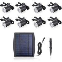 3.2V 0.2W 6PCS Solar Deck Lights IP65 Waterproof Solar Garden Light, White and 6pcs