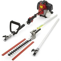 52cc Petrol Long Reach Hedge Trimmer Cutter Garden Tool 3m Extension Pole 3HP