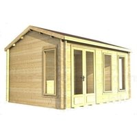 3.5m x 3.5m Log Cabin (2039) - Double Glazing (44mm Wall Thickness)