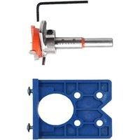 Bearsu - 35mm Adjustable Hinge Drilling Jig Locator Hinge Punching Installation Auxiliary Tool Hinge Positioner Hinge Hole Drilling Guide Locator