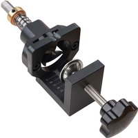 Asupermall - 35mm Concealed Hinge Drilling Jig Hole Guide with Screw Clamp Hex Socket Drill Bit for Cabinet Doors Woodworking,model:Black