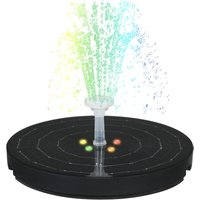 3.8W Large Diameter 190MM Water Pump Solar Fountain with Night Colorful Breathing Light 2200mAh Battery Transparent 8 Nozzles,model: 2200mAh