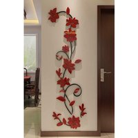 Briday - 3D Rattan Flower Wall Murals for Living Room Bedroom Sofa Backdrop Tv Wall Background, Originality Stickers Gift, Wall Decor Decal Sticker