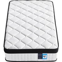 3ft Memory Foam Mattress 9-Zone Pocket Sprung Single Bed Mattress Medium Feel with 3D Breathable Knitted Fabric and Airy Mesh for Kids/Adults,Vacuum