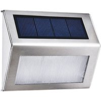 3L-ED Stainless Steel Solar Garden Light for Outdoor Stairs Paths Patio L-ED Solar Street Light (Warm white) - ASUPERMALL
