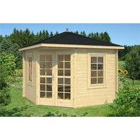 Clifton Log Cabins - 3m x 3m Budget Apex Log Cabin - Corner (227) - Single Glazing (28mm Wall Thickness)