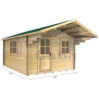 3m x 3m Log Cabin (2025) - Double Glazing (44mm Wall Thickness)