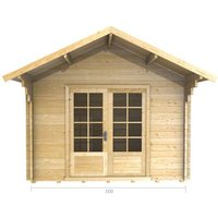 Abingdon - 3m x 3m Log Cabin (2035) - Double Glazing (34mm Wall Thickness)