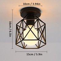3pcs Creative Cube Shape Ceiling Light Antique Metal Chandelier Industrial Ceiling Lamp Retro Chandelier Black E27