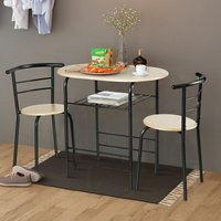 Costway - 3PCS Dining Set 2 Chairs and Table Breakfast Bar Kitchen Room Modern Furniture