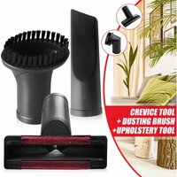 3pcs / set 32mm Vacuum Cleaner Brush Nozzle Home Dust Removal Crevice Upholstery Tool Kit