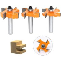 3Pcs Tongue and Groove Cutter, 4 x 8mm Shank T Blade Balls - Wood Shaped Cutter, Woodworking Tools for Doors, Tables, Shelves, Walls and more