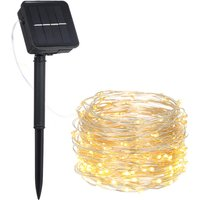 3W 5M/16.4Ft 50 LEDs Solar Powered Energy Copper Wire Fairy String Light Lawn Lamp with 8 Different Lighting Modes