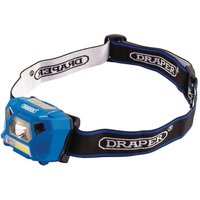 Draper 90067 3W Rechargeable COB LED Head Torch