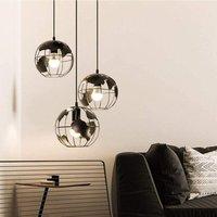 3x Vintage Pendant Lamp Earth Chandelier Metal Hanging Light Creative Pendant Light Black
