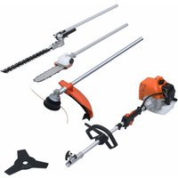 4-in-1 Petrol Garden Multi-tool Set with 52 cc Engine - Orange