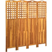 Betterlifegb - 4-Panel Room Divider 161x2x170 cm Solid Acacia Wood23976-Serial number