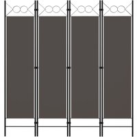 Youthup - 4-Panel Room Divider Anthracite 160x180 cm