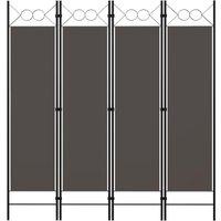 4-Panel Room Divider Anthracite 160x180 cm - Anthracite - Vidaxl