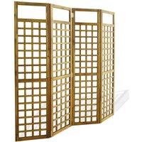 Betterlifegb - 4-Panel Room Divider / Trellis Solid Acacia Wood 160x170 cm31165-Serial number