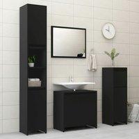 4 Piece Bathroom Furniture Set Black Chipboard20151-Serial number