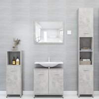 Betterlifegb - 4 Piece Bathroom Furniture Set Concrete Grey Chipboard20145-Serial number