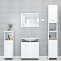 4 Piece Bathroom Furniture Set High Gloss White Chipboard20147-Serial number
