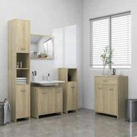 4 Piece Bathroom Furniture Set Sonoma Oak22493-Serial number