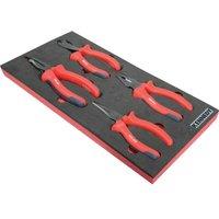4 Piece Pro-torq VDE Insulated Pliers Set in Tool Control 1/3 Width Foam - Kennedy