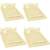 4 shiny satin bedding sets 200x150cм 6 PCs - bedding, bed linen, duvet cover - yellow - TECTAKE