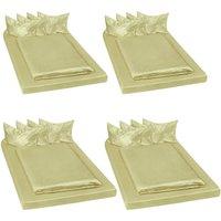 4 shiny satin bedding sets 200x150cм 6 PCs - bedding, bed linen, duvet cover - green