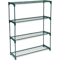 4 tier 90*28*106CM etal Shelves Flower Pot Plant Stand Garden Greenhouse Shelf Racks - AUGIENB