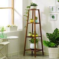 Augienb - 4 Tier Flower Shelf Planter Plant Holder Storage