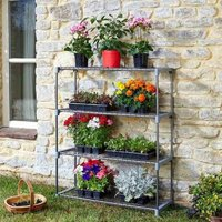 4 Tier Greenhouse GroZone Shed Storage Steel Shelving Shelves - Smart Garden