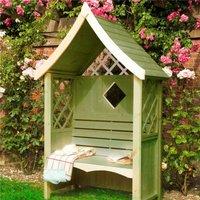 4 x 2 Wooden Lattice Seat Arbour
