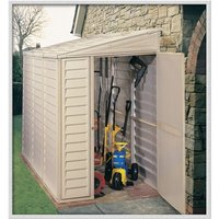 4 x 8 Deluxe Duramax Plastic Sidemate PVC Shed With Steel Frame (1.21m x 2.39m) - SALFORD PLASTIC SHEDS