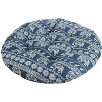 40x40cm Cotton Round Chair Pad Thicker Cushion Office Seat Mat Elephant