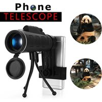 Mohoo - 40x60 Monocular HD Telescope Night Vision bak4 prism phone for iPhone Samsung