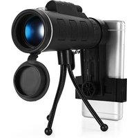 40x60 Monocular Telescope HD Night Vision Bak4 Prism Phone for iPhone Samsung Hasaki